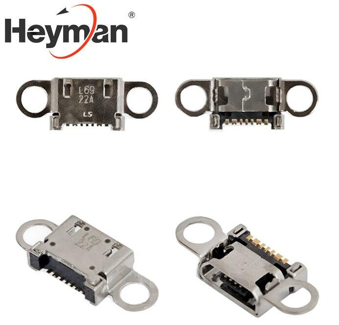 Heyman-conector de carga para Samsung G920F,G925F, Galaxy S6 EDGE, piezas de repuesto para teléfonos móviles (7 pines, micro USB tipo B)