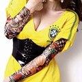 Del brazo de la manga de hombre del verano mangas calentadores bloque de béisbol de Nylon ciclismo la pintura del cuerpo tatuajes sol para para 10 pc/lot