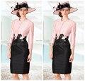 Платье женские брюки костюм Большой размер Vestidos Madrinha линия розовый мать невесты платья крестная кружева с рукавами спинки