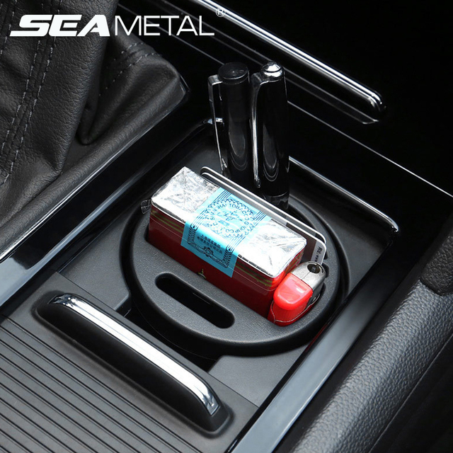 Car Organizer Box Coins Cards Storage Holder Cup Slot Pens Keys Stowing Tidying Travel Multifunction Universal Auto Accessories