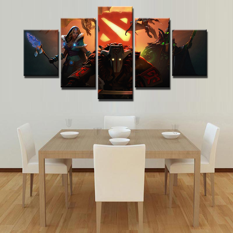 Game wall art picture home decoration living room canvas 5 for Living room 12x16