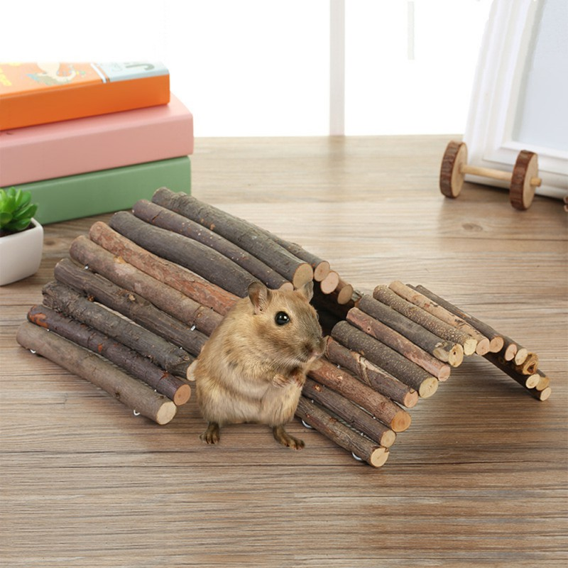 Rabbit Toys New Pet Training Tool Natural Pine Climbing Ladder For Pet Rabbit Hamsters Guinea Pig And Small Animals Supplies