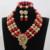 Único Azul sistemas de La Joyería Nupcial de La Boda Africana de Nigeria Coral Perlas/Mujeres Collar de Perlas de Set Envío Libre CJ851