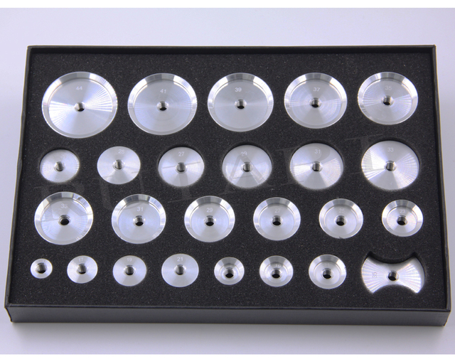 2019 новейшие алюминиевые резьбовые наручные Чехлы Набор из 25