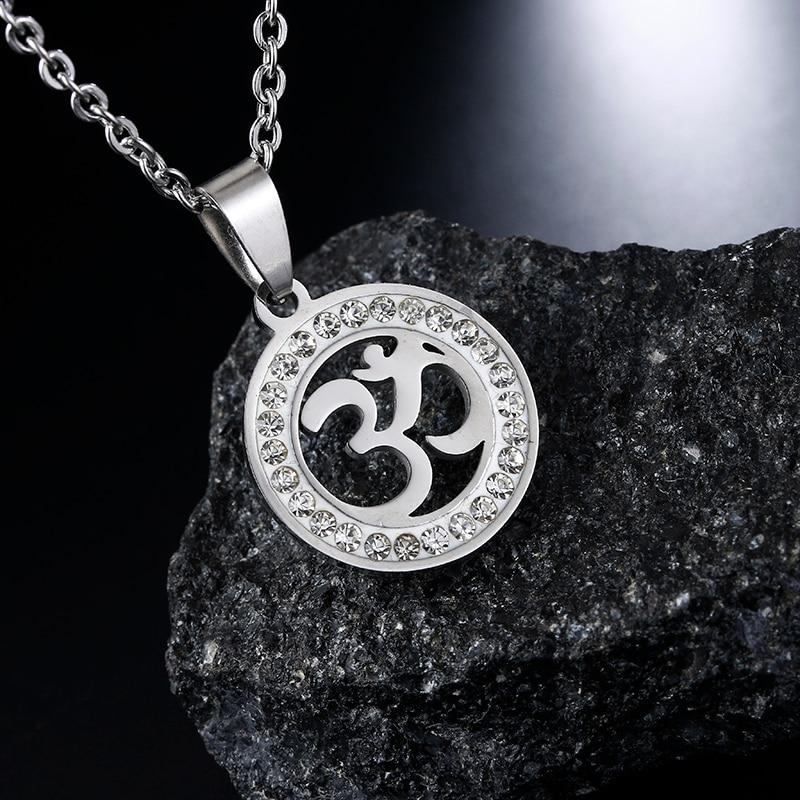 Om Aum Ohm Symbol Necklace Pendant Hindu Buddhist Peace Chain