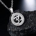 АУМ Ом из нержавеющей стали, Индийский талисман о-образные цепочки ожерелья XL31