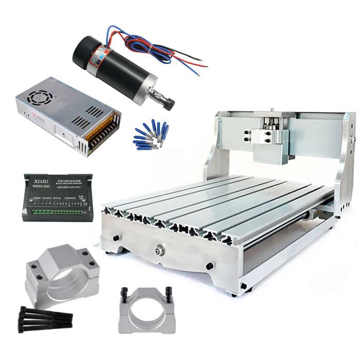 Bricolage CNC cadre 3040 vis à billes ER11 Brushless 500 W broche moteur pilote outils de CNC
