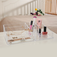 Acrylic Cosmetic Organizer Lipstick Holder Display Stand Clear Makeup Case makeup Organizer Storage Container Boxes Bins