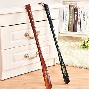 Lifter Shoe-Horn Wooden Long-Handle 55cm Craft Ultra Mahogany Wenge Professional