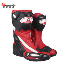 PRO BIKER motorcycle racing boots moto motocross boots motorbike cycling knight men leather shoes brand riding