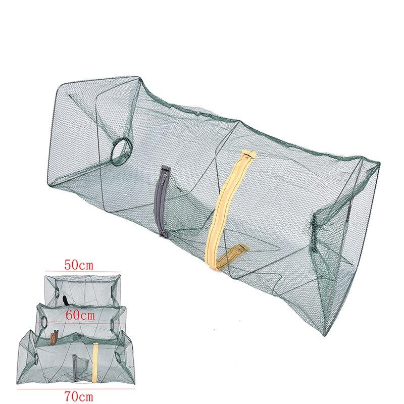 3 Sizes Net For Crab Fish Crawdad Shrimp Minnow Fishing Bait Trap Cast Dip Foldable Net Cage Fishing Accessaries