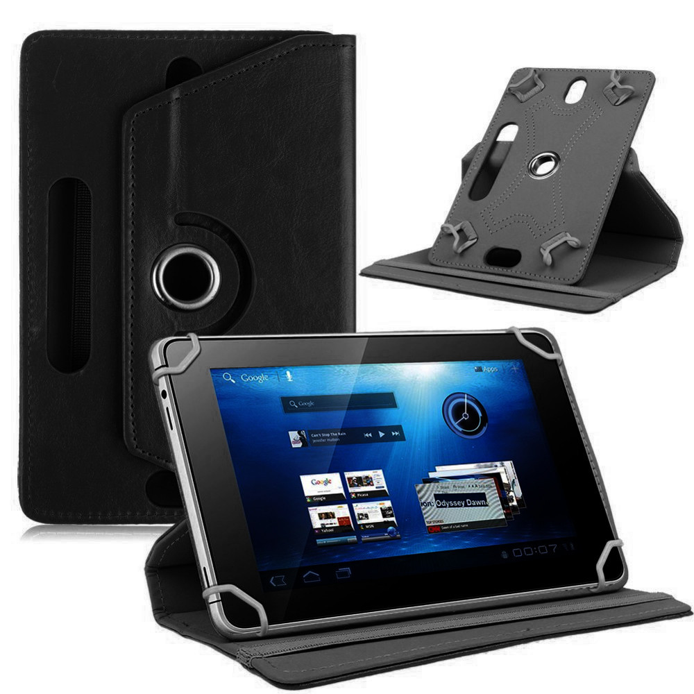 """For ARCHOS ACCESS 101 3G 10.1"""" inch 360 Degree Rotating Universal Tablet PU Leather cover case(China)"""