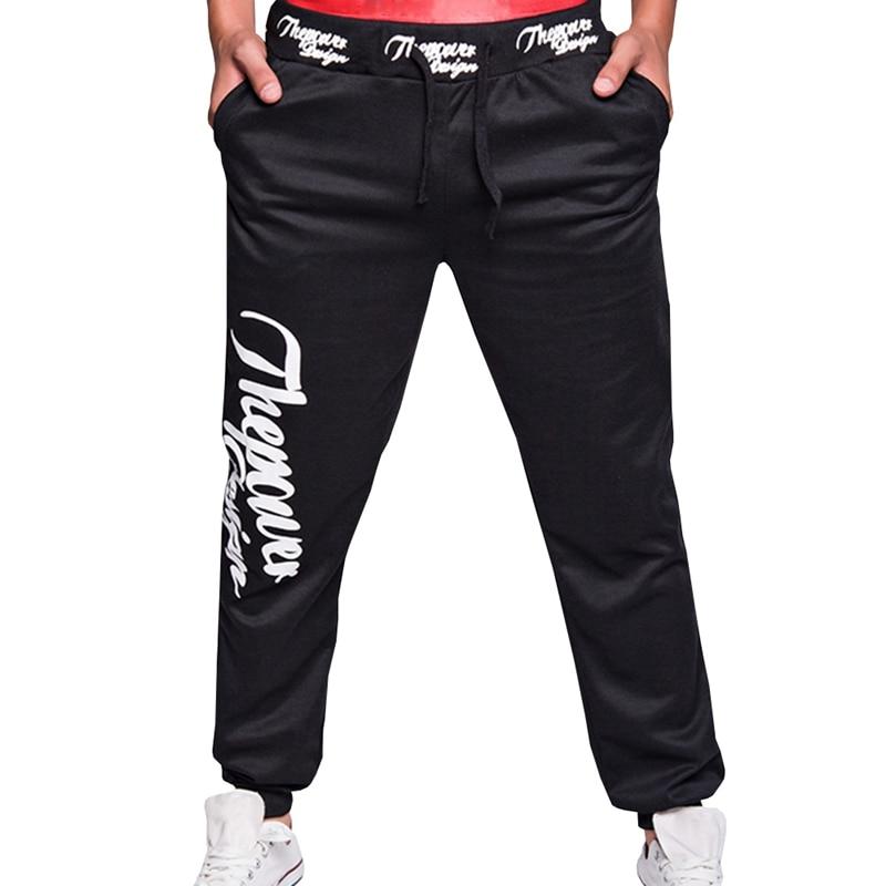 Autumn New Style Mens Casual Sweat Pants Men Alphabet Print Fitness Fashion Pants Men Personality Popular Pants M-XXL