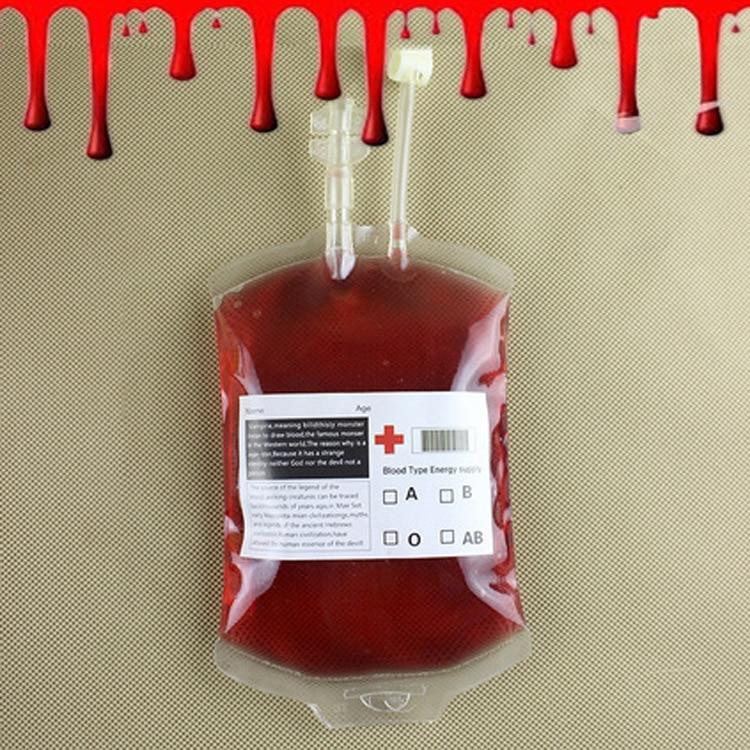 250ml Transparent Blood Bag PVC Reusable Blood Energy Drink Bag Halloween Decor Vampire Props Party Supplies
