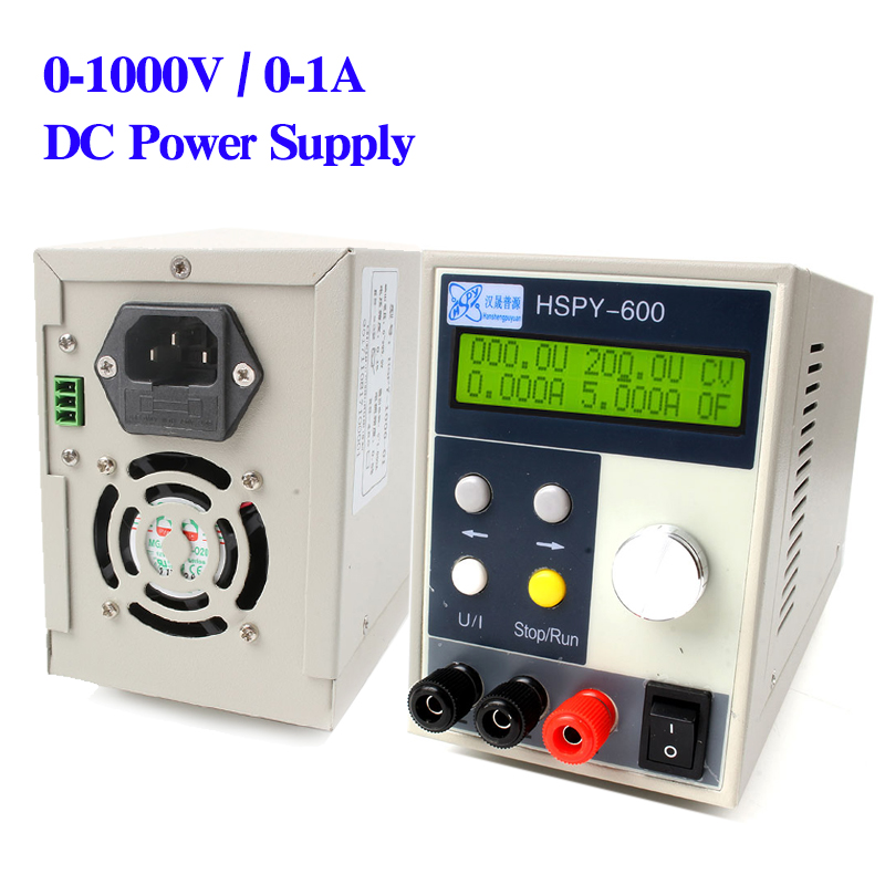 1000W programmable DC power source 1000V DC high voltage power supply 1A