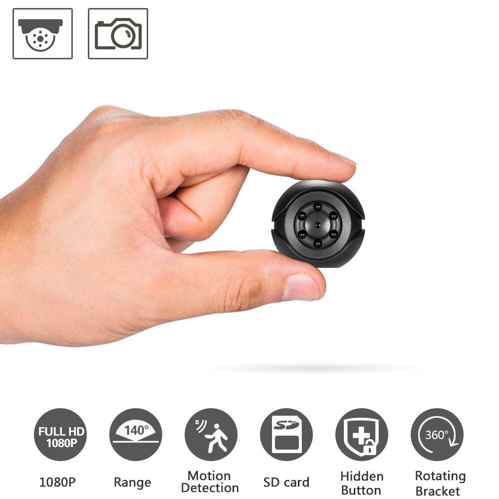 ENKLOV 1080P HP Video Mini Camera Audio Recorder Webcam Camcorder Security Secret Nanny Car Sport Micro Cam with Mic IP Camera