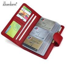 114 Slots Genuine Leather Credit Card Holder
