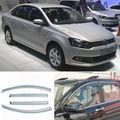 4 pcs Nova Smoked Limpar Janela de Ventilação Da Máscara Viseira Defletores de Vento Para VW Polo 05-10
