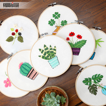 2018 Rushed Hot Sale Embroidery Handmade, Embroidery, Diy, Material Bag, Novice, Cloth, Simple, 3d, European, Slightly