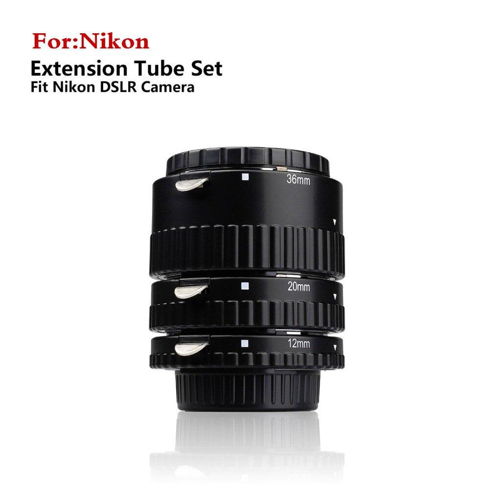 Meike N-AF-A Autofocus D'extension Macro Anneau de Tube pour Nikon D90 D3000 D3100 D3200 D5000 D5100 D5200 D7000 D7100 D7200Camera DSLR