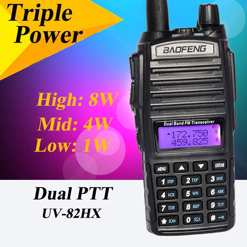 Baofeng UV-82 8 Watt UV-82HX Leistungsstarke Baofeng GT-3 Walkie Talkies Schwester Tragbare Radio Spaziergang Sprechen Baofeng 82 UV82 bf-a58 uv5r uv-6r