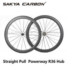 250 градусов прямо тянуть Powerway R36 Высокое качество колеса углерода 38 мм 50 мм 60 мм 88 мм tubular довод бескамерные колеса углерода