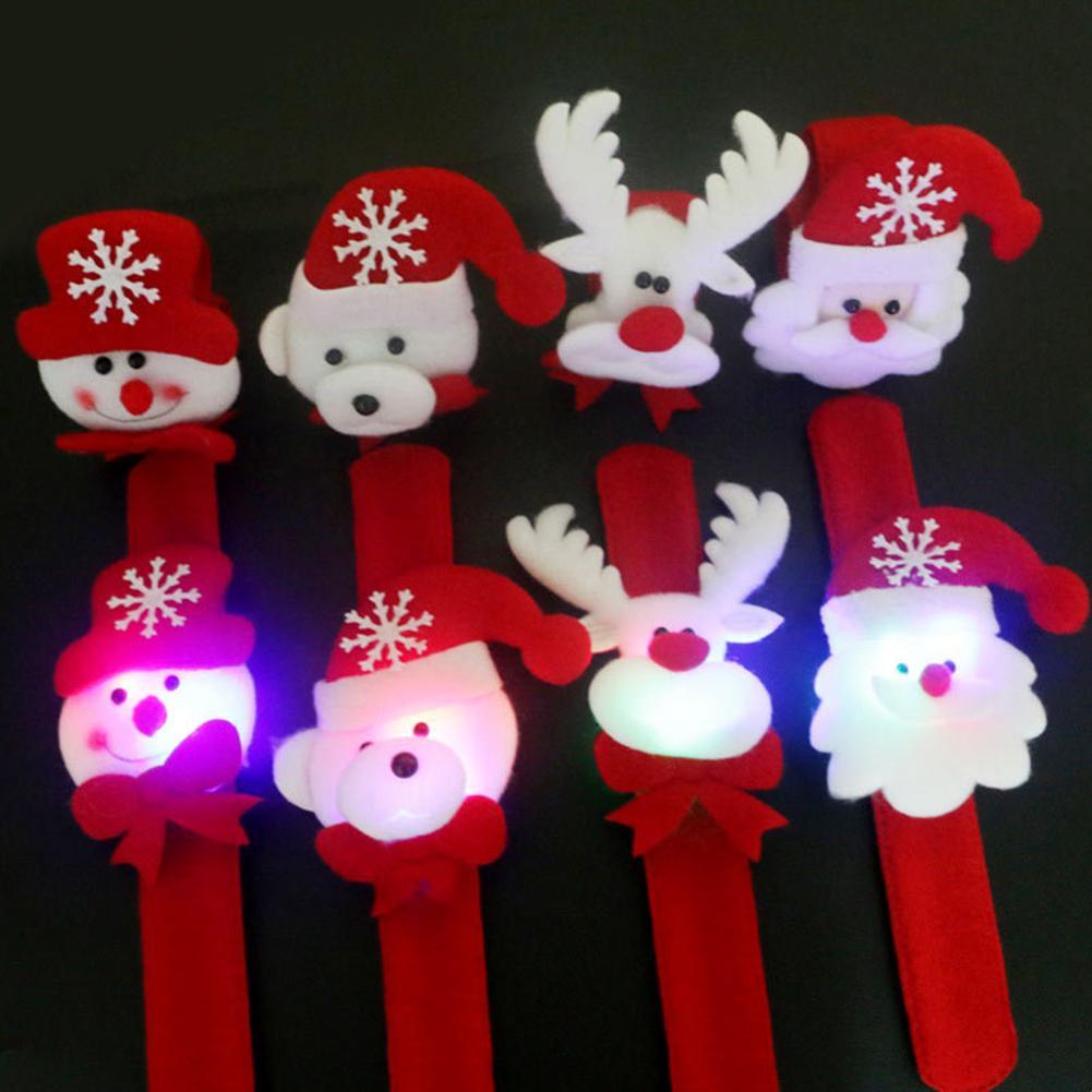 Consciencieux Lumière Led Lueur Noël Pulseira éblouissant Jouet De Noël Gifle Cercle Bracelet Poignet Bande Nouvel An Cadeaux Alibaba Express En Gros