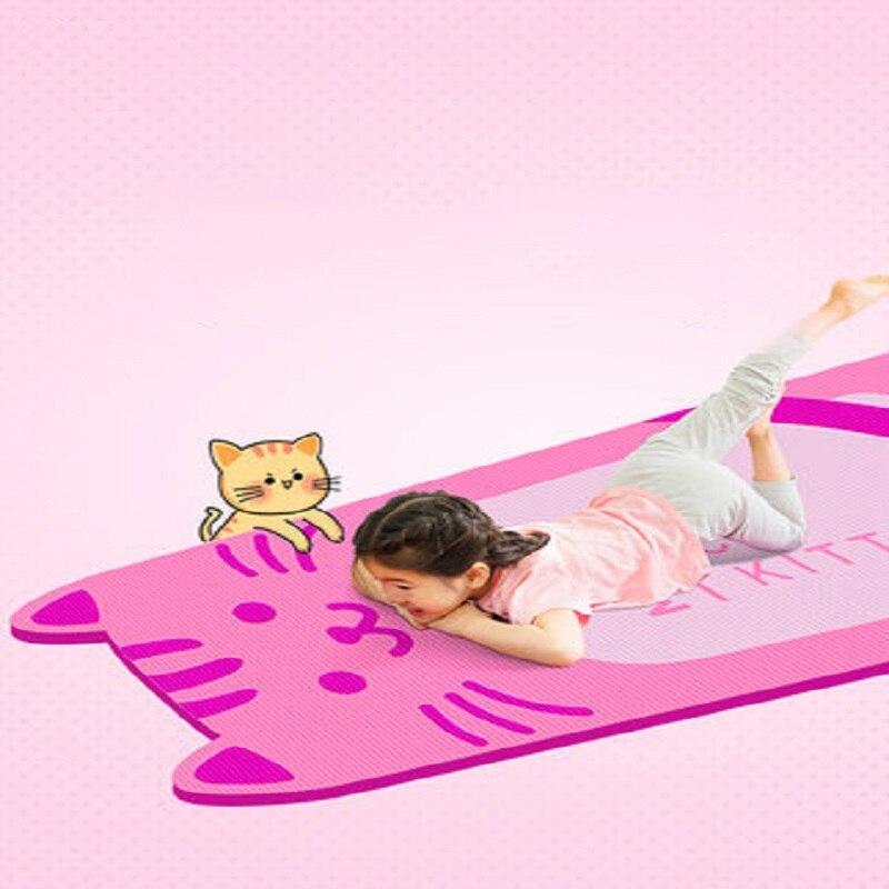 Tapis de Yoga pour enfants 185*80 cm * 10mm NBR tapis de danse antidérapant en forme de chat tampons écologiques tapis d'exercice pour enfants