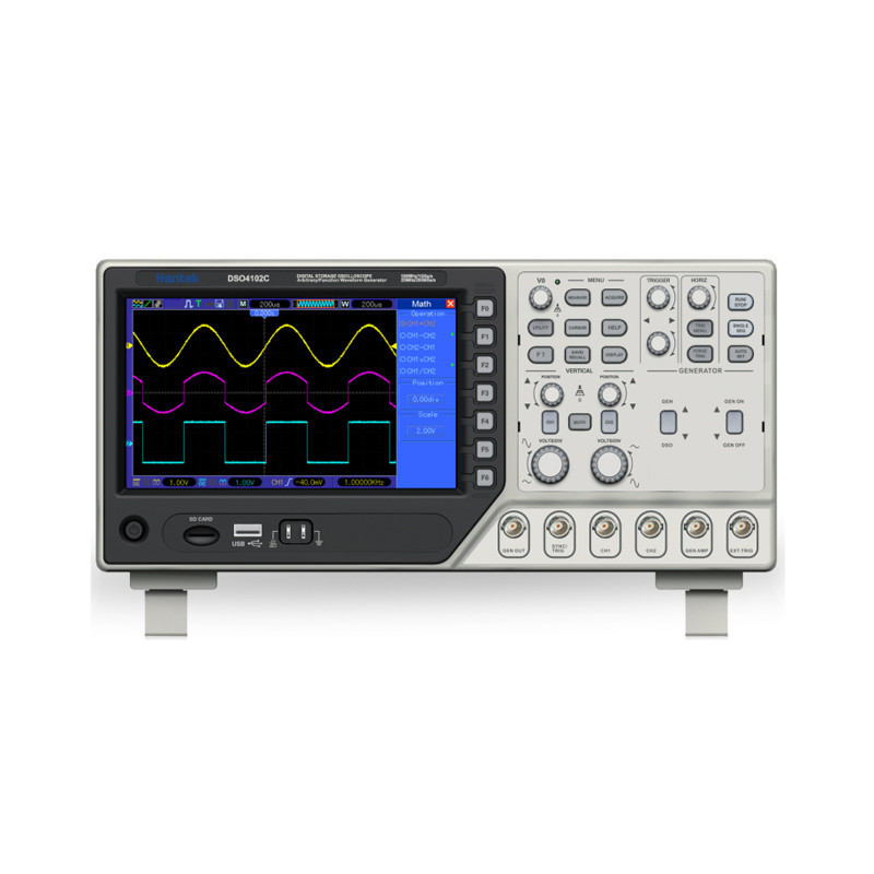 Hantek DSO4102C Digital font b Multimeter b font Oscilloscope USB 100MHz 2 Channels LCD Display Handheld