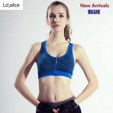 New Space Dyeing Zipper Women Sports Bra Sexy Outdoor Running Women's Cropped Tops Shockproof Quick Dry Padded Female Underwear