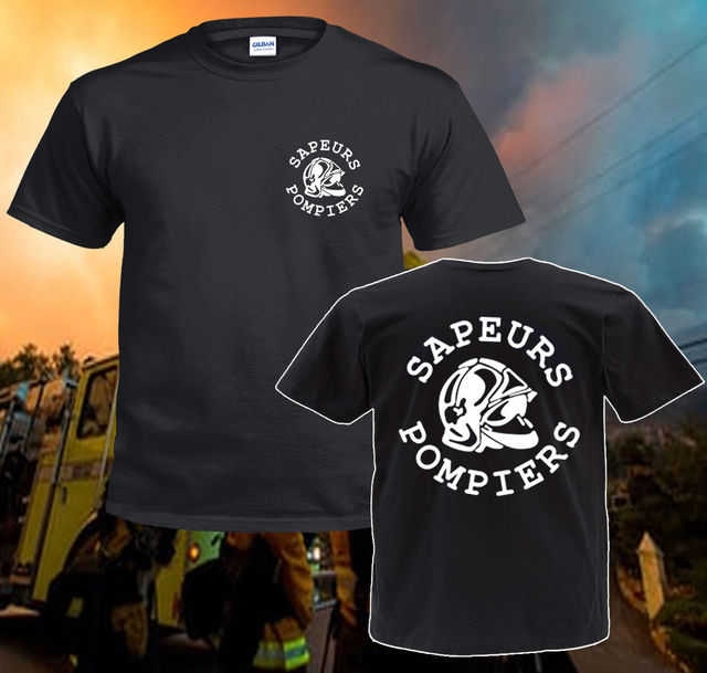52727eaba 2019 Hot sale Fashion Inspired New Sapeurs Pompiers Paris France Circle  Firefighter Department T Shirt Tee shirt