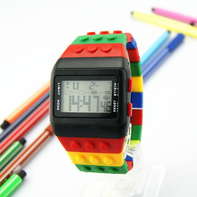 Светодиодный цифровой наручные часы для мальчиков девочки унисекс красочные электронные спортивные часы May30 дропшиппинг