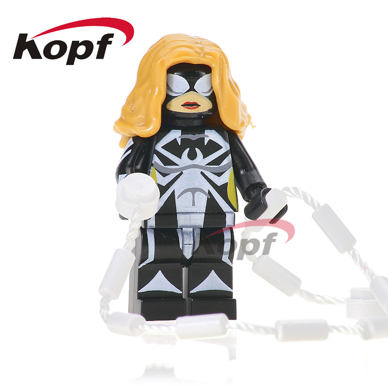 Single Sale Black Spider Girl Whiplash Paladin Spiderman Building Blocks Super Heroes Bricks Collection Toys for children PG203 berkley whiplash pro в америке