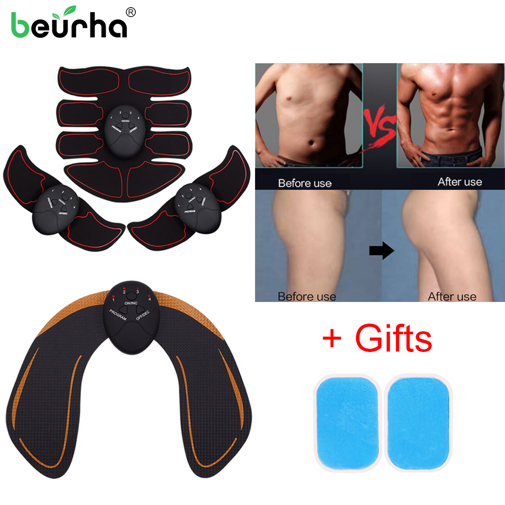Unisex EMS Training Body Hip Muscle Massage ABS Stimulator Fitness Buttocks Butt Lifting Abdomen Trainer Slimming Massager Gifts ems hips trainer