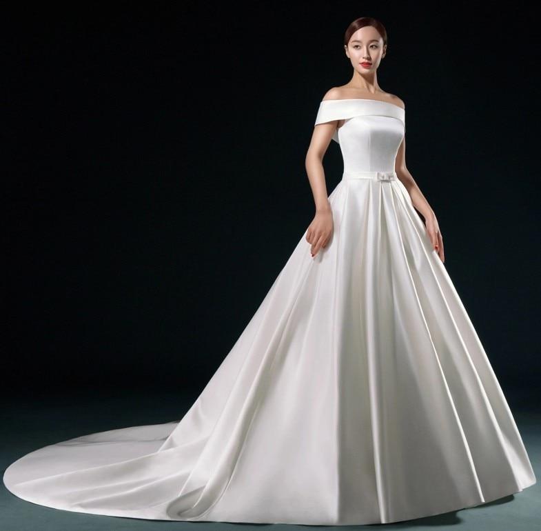 White Satin Wedding Dress