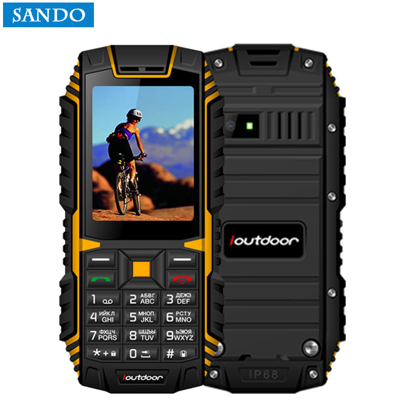 Jeasung ioutdoor T1 2G Feature Phone IP68 Shockproof mobile phone telefonu 2.4''128M+32M GSM 2MP FM Telefon Celular 2100mAh