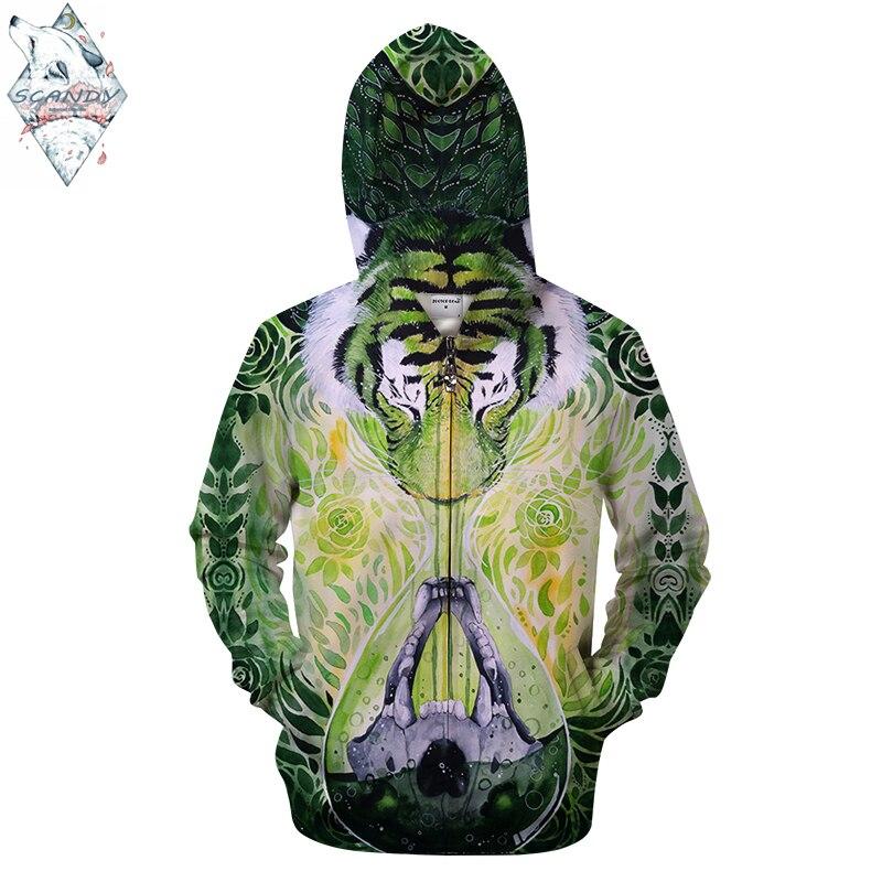 DissolveinTime By Scandy Girl Arts 3D AnimalPrint Hoodies Men Women Sweatshirt Brand Tracksuit Pullover Jacket Hooded ZipperCoat