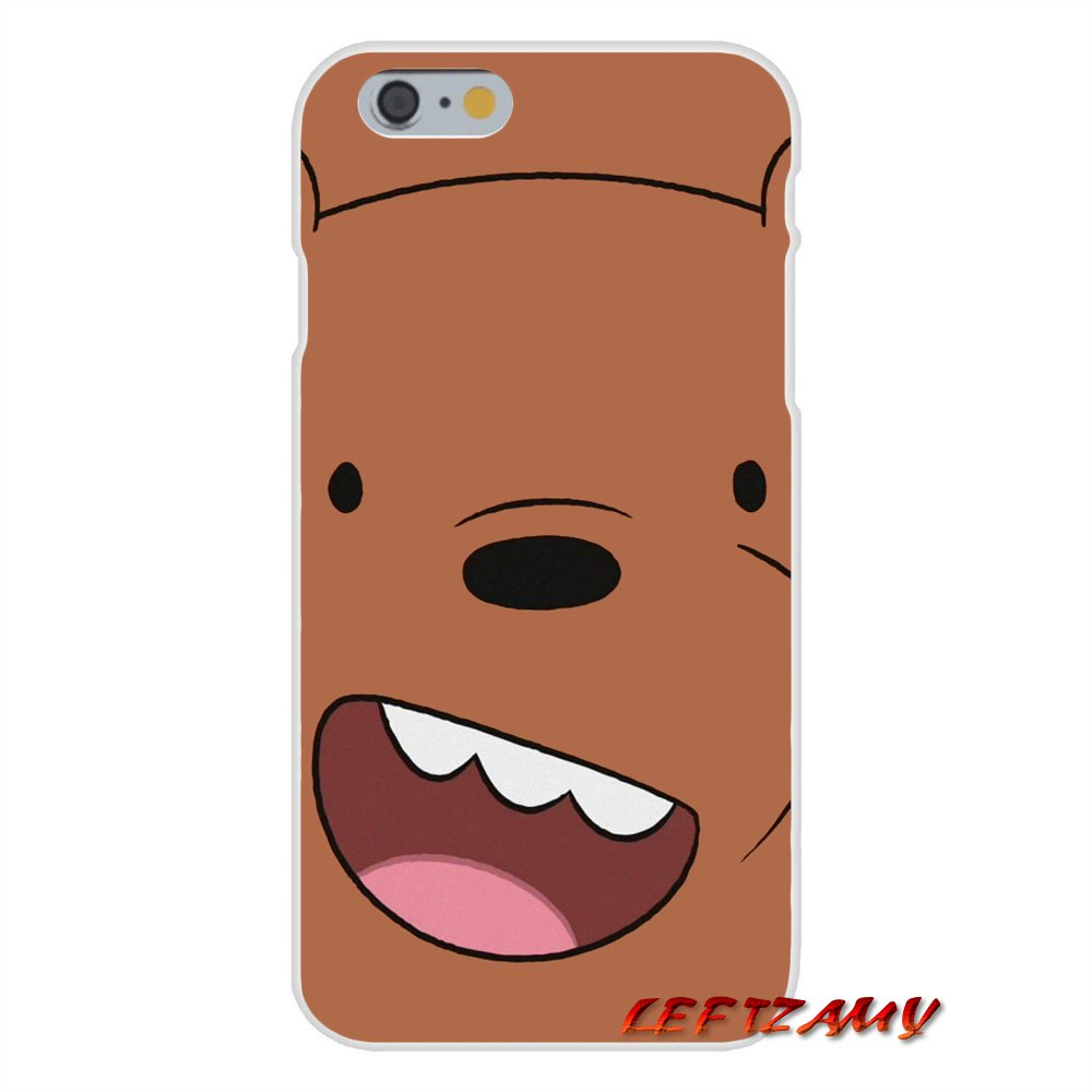 san francisco a64f1 00e9a US $0.99 |we bare bears miniso For iPhone X 4 4S 5 5S 5C SE 6 6S 7 8 Plus  Accessories Phone Shell Covers-in Half-wrapped Cases from Cellphones & ...