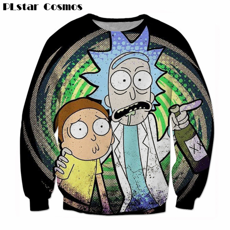 Funny Morty Crewneck Sweatshirt Rick and Morty 3d Print Sweats Fashion Clothing Outfits Jumper casual Tops plus size 5XL