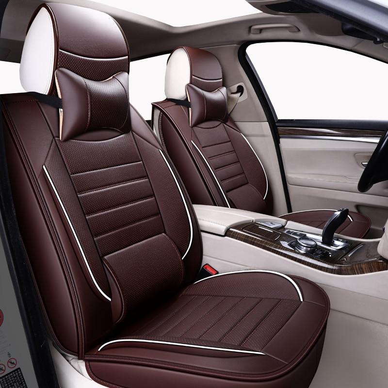 High quality leather universal Car seat covers For Fiat All Models Ottimo 500 Panda Punto Linea Sedici Viaggio Bravo Freemont