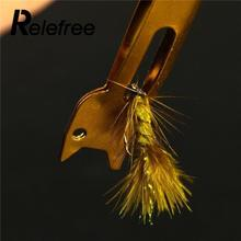 Relefree Useful Metal Fast Knot Tying Tool Fishing Line Tyer Accessories Equipment Outdoor Sports Goods Gold