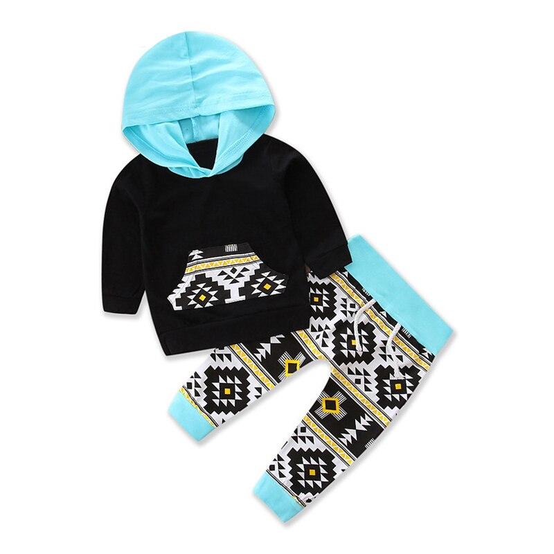 2 pcs Kids Boys Clothing Set Autumn Winter Sets blue Hooded Coat Suit Baby Girls Clothes Set Spring Cotton Chidren Clothes