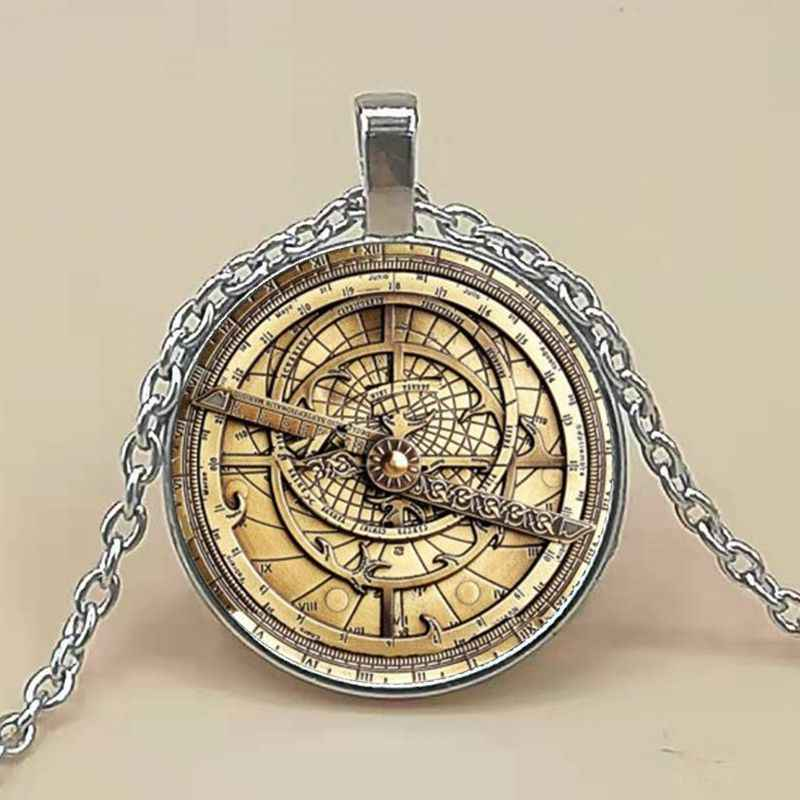 Steampunk Gravity Falls Mysteries BILL CIPHER WHEEL Necklace doctor who 1pcs/lot Glass mens astrolabe women best friends Pendan