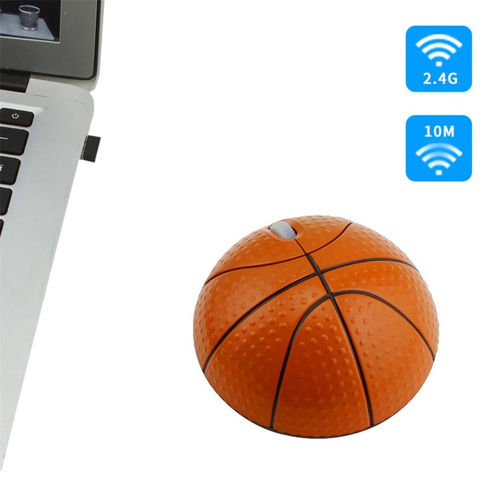 VOBERRY trend 2,4G фотоэлектрическая креативная Беспроводная баскетбольная мышь эргономичная 3D оптическая Спортивная мышь в форме баскетбола для ноутбука-5