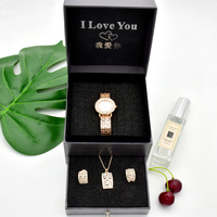 High quality watch gift set girl mom birthday gift mother's day present quartz ladies watch fashion customized blessing gift box