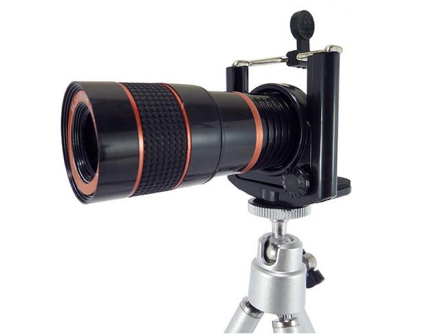 Universal mini optical mobile phone zoom telescope camera