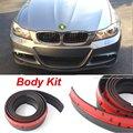 Para BMW série 1 E81 E82 E83 E87 M1 F20 F21 Bumper Lip/Spoiler dianteiro Defletor Para a Opinião Do Carro Tuning/Body Kit/Tira Saia adesivos