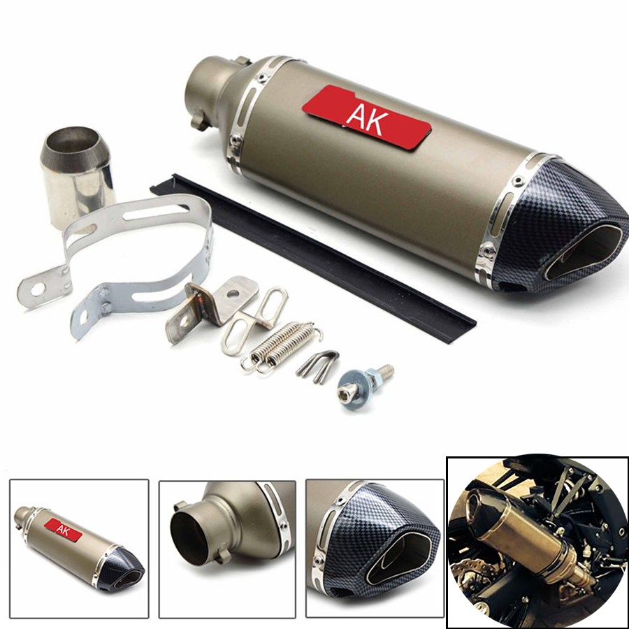 Motorcycle parts Exhaust Universal 51mm Stainless Steel Motorbike Exhaust Pipe For Kawasaki ZX7R ZX9 ZX1100 ZRX1100 ZZR1200 Z300 for modified exhaust motorcycle silencer exhaust pipe fiber stainless steel universal 36 51mm for suzuki hayabusa gsxr1300 gsxr7