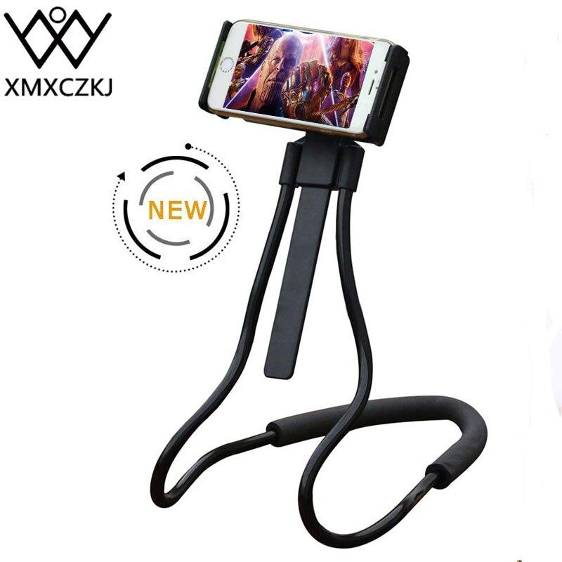 Xmxczkj flexível titular do telefone celular cama suporte longo braço preguiçoso suporte de rotação para xiaomi iphone xr preguiçoso pescoço telefone titular