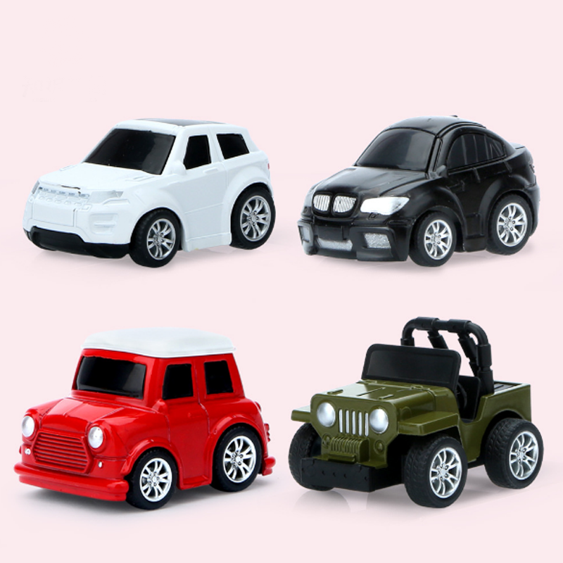 4pcs//set Automatic Steering Diecasts Vehicles Music Car Universal Baby Car Toys